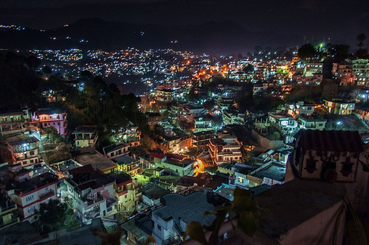 Solan city illuminated.