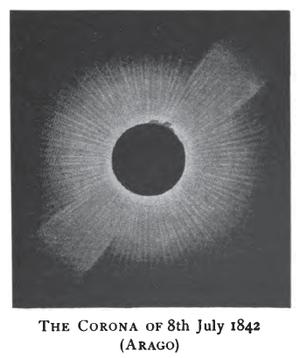 Solar Saros 124 - Image: Solar eclipse 1842Jul 08 Corona Arago