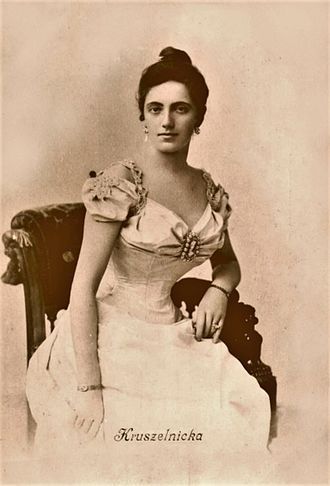 Gloria (opera) - Salomea Krusceniski, who sang the title role at the world premiere in 1907