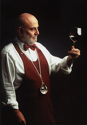 Sommelier - A sommelier with a tastevin around his neck