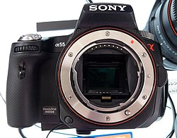 Sony Alpha 55 at store.JPG