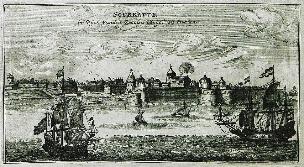 Sourratte int ryck vanden Grooten Mogol en Indien - Peeters Jacob - 1690