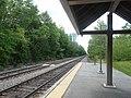 South end of platform at Wells station, June 2014.jpg