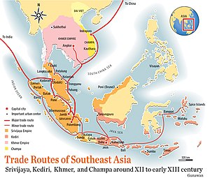 Quanzhou - Trade routes in Southeast Asia during Quanzhou's heyday.