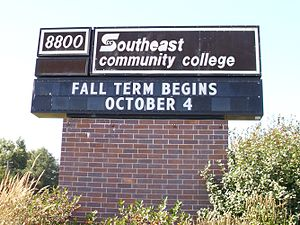 Southeast Community College - Southeast Community College sign in Lincoln, Nebraska