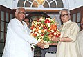Speaker, Lok Sabha Shri Somnath Chatterjee calls on the Vice President Shri Bhairon Singh Shekhawat in New Delhi on June 5, 2004.jpg