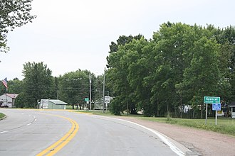 Spencer, Wisconsin - Image: Spencer Wisconsin Sign WIS13