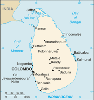 Outline of Sri Lanka - An enlargeable basic map of Sri Lanka