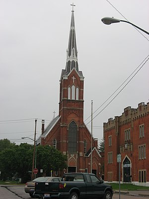National Register of Historic Places listings in Henry County, Ohio - Image: St. Augustine's Catholic Church, Napoleon