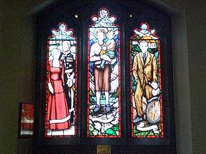 St. Thomas Aquinas Church, Toronto - Image: St. Thomas Aquinas Church stained glass windows of the Vaniers, Gianna Beretta Molla, Franz Jägerstätter, Toronto