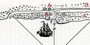 Siege of St. Augustine (1702) - Image: St Augustine 1702Siege