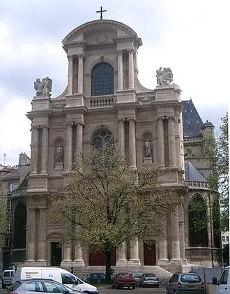 Louis Couperin - The church of St-Gervais-et-St-Protais in Paris, where Louis Couperin served as organist from 1653 until his death.