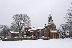 St Anne's Church, Kew - St Anne's Church in the snow