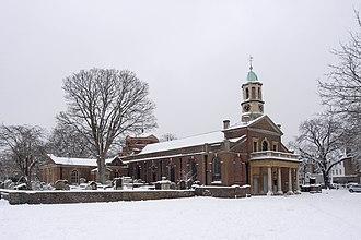 St Anne's Church, Kew - St Anne's Church in the snow