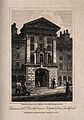 St Bartholomew's Hospital, London; Henry VIII Gate. Engravin Wellcome V0013005.jpg