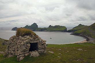 Cleit - A Cleit on St Kilda (overlooking Village Bay)