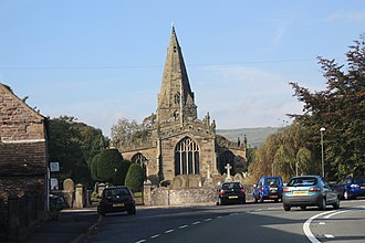 Hope, Derbyshire - Image: St Peter church in Hope Derbyshire IMG 2518