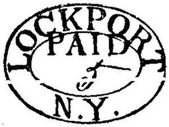 United States postmasters provisional stamps - Lockport, NY