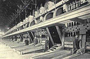 Treadwell gold mine - Treadwell stamp mills, 1908