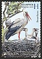 Stamp of Belarus - 2019 - Colnect 862608 - White Stork Ciconia ciconia.jpeg
