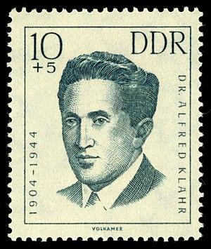 Alfred Klahr - Image: Stamps of Germany (DDR) 1962, Mi Nr 0919