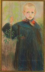 Chłopiec z kwiatem