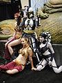Star Wars Celebration V - female Mandalorian, slave Leias, Oola, and Jabba.jpg