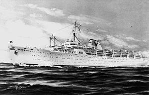 USS Charger (CVE-30) - The ship as Fairsea
