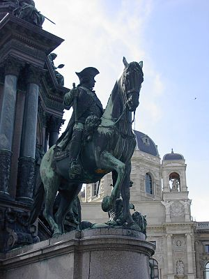 Leopold Joseph von Daun - Statue of Leopold Josef Graf Daun, on the Maria Theresa memorial, Vienna