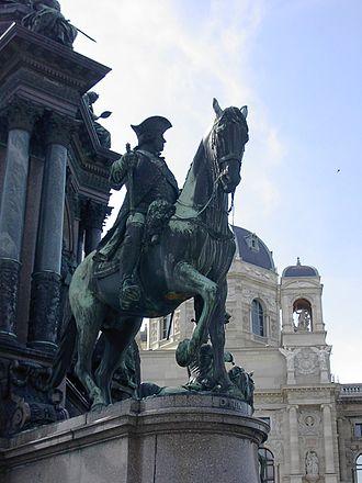 Leopold Joseph von Daun - Statue of Leopold Josef Graf Daun, on the Maria Theresa memorial, Vienna