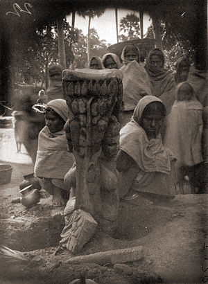 Statue of Matrikas found near Agam Kuan, Patna, 1895
