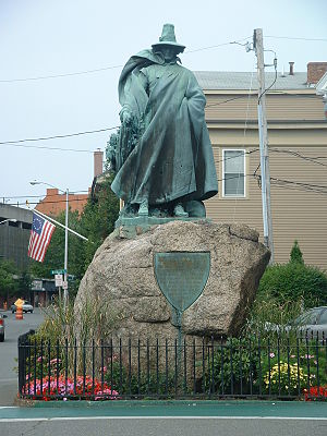 Roger Conant (colonist) - Statue of Roger Conant, founder of Salem, Massachusetts, photo taken in 2004