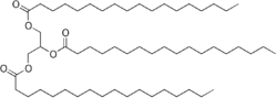 Skeletal formula of stearin