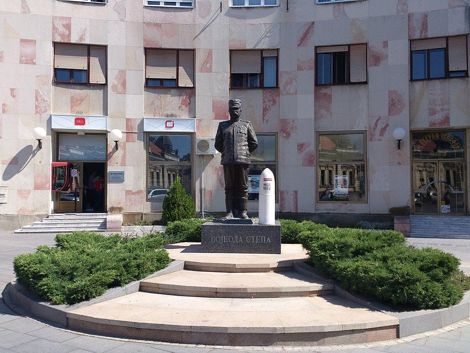 Stepa Stepanović monument in Čačak