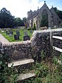 Stepped Wall Stile to St Mary's Church - geograph.org.uk - 1403473.jpg