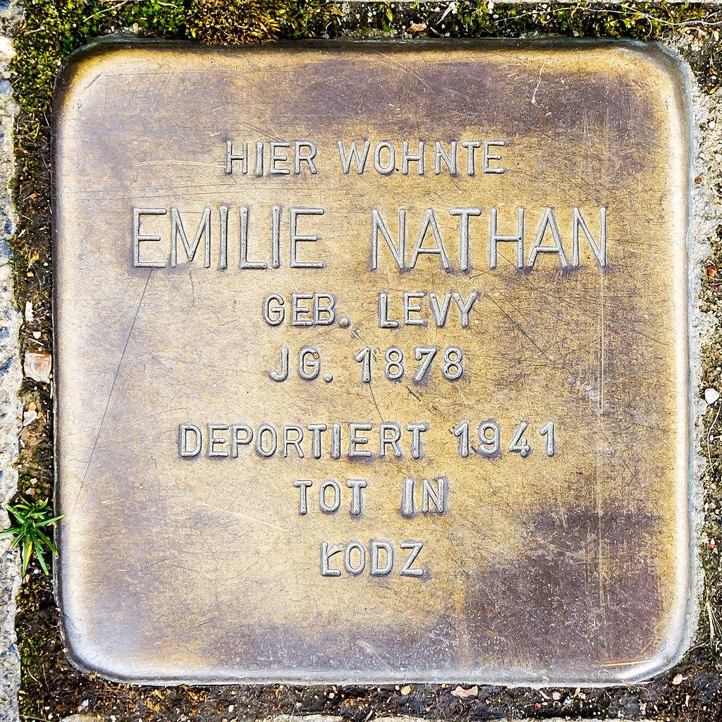 Stolperstein Emilie Nathan
