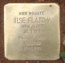 Photo of Ilse Flatow brass plaque