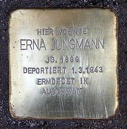 Photo of Erna Jungmann brass plaque