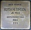 Stolpersteine Höxter, Ruth H. Simson (Westerbachstraße 12).jpg