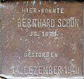 Stumbling stone for Bernhard Schön (Sternengasse 48)
