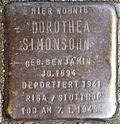 Stumbling stone for Dorothea Simonsohn (Frankstrasse 12)