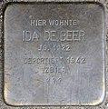 Stolpersteine Krefeld, Ida de Beer (Dießemer Straße 89).jpg