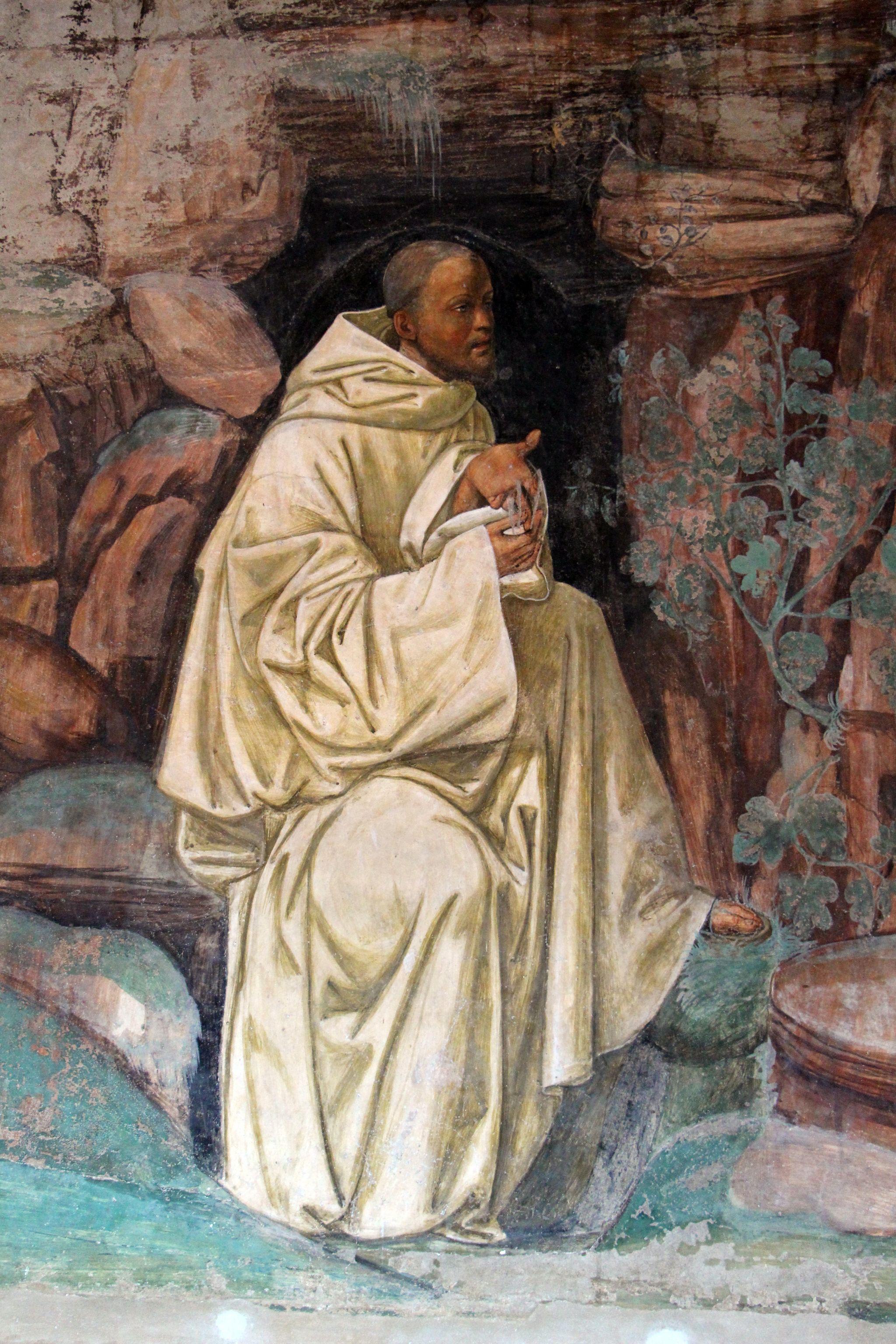 Storie di s. benedetto, 07 sodoma - Come Benedetto ammaestra nella santa dottrina i contadini che lo visitavano 02