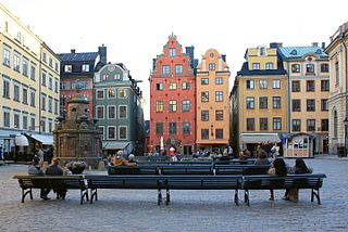 Stortorget square in Gamla stan, Stockholm, Sweden