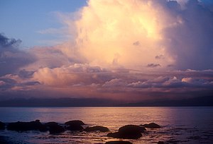 Strait of Juan de Fuca - Sunset over the strait