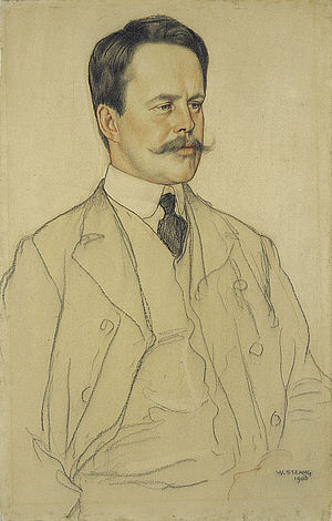 Neil Munro (writer) - Pastel sketch of Munro by William Strang in 1903.