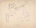Studies of a Sitting Woman; verso- Studies of Men MET DP803685.jpg