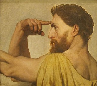 The Apotheosis of Homer (Ingres) - Study for Phidias in The Apotheosis of Homer, oil on canvas, 1827, San Diego Museum of Art