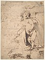 Study of the Christ Child and the Hand of the Madonna. Verso; Profile of a Man MET DP802099.jpg