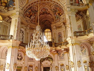 Palazzina di caccia of Stupinigi - Detail of the central salone